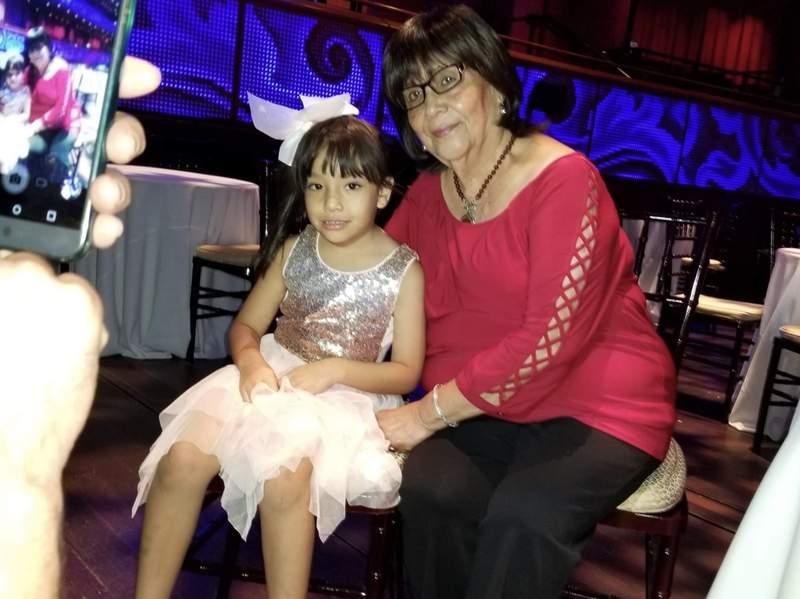 San Antonio Congressman Joaquin Castro's step-mother, Alice Guzman, and his daughter.