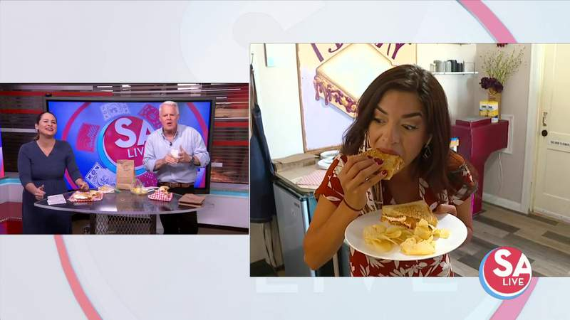 Fall fave? Jen tries a PBJ + pumpkin spice sandwich   SA Live   KSAT 12