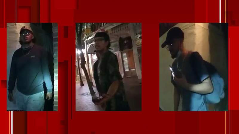 SAPD search for suspects into burglaries of Fiesta vendor tents at Market Square