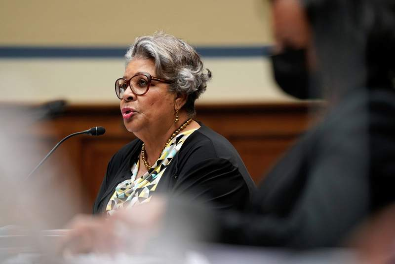 """State Rep. Senfronia Thompson, D-Houston, testified at a House Oversight and Reform's Civil Rights and Civil Liberties Subcommittee hearing on """"Democracy in Danger: The Assault on Voting Rights in Texas"""" on Capitol Hill in Washington, D.C., on July 29, 2021."""