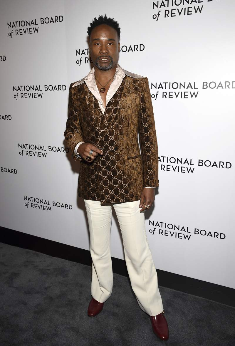 Billy Porter attends the National Board of Review Awards gala at Cipriani 42nd Street on Wednesday, Jan. 8, 2020, in New York. (Photo by Evan Agostini/Invision/AP)