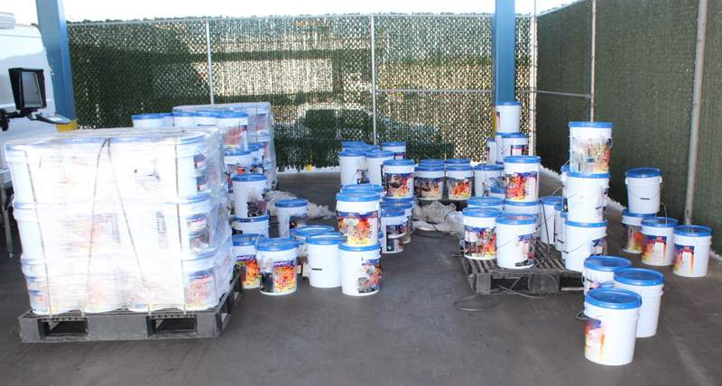 CBP officers at the World Trade Bridge seized 10 packages containing 474 pounds of methamphetamine discovered within the consignment. The narcotics have an estimated street value of $9,483,307, officials said in a news release.
