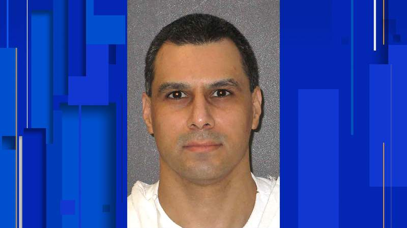 This undated photo provided by the Texas Department of Criminal Justice shows Ruben Gutierrez. Another Texas inmate has had his scheduled execution delayed over claims the state is violating his religious freedom by not letting his spiritual adviser lay hands on him at the time of his lethal injection. Gutierrez had been set to be executed on Oct. 27 for fatally stabbing an 85-year-old Brownsville woman in 1998. But a judge on Wednesday granted a request by the Cameron County District Attorney's Office to vacate the execution date. (Texas Department of Criminal Justice via AP)