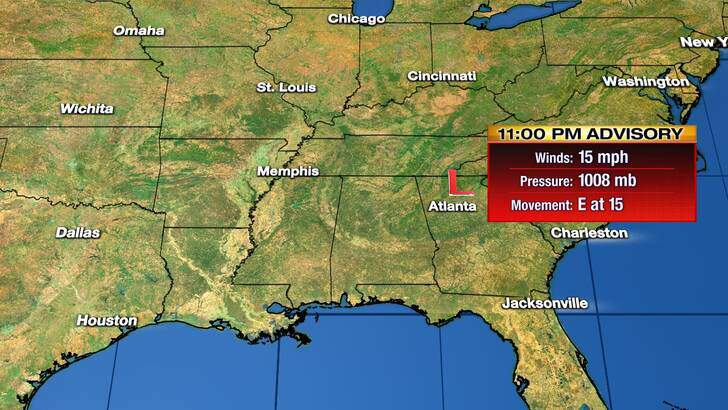 Tropics Forecast Cone at 9:46 Sunday Evening, October 11th