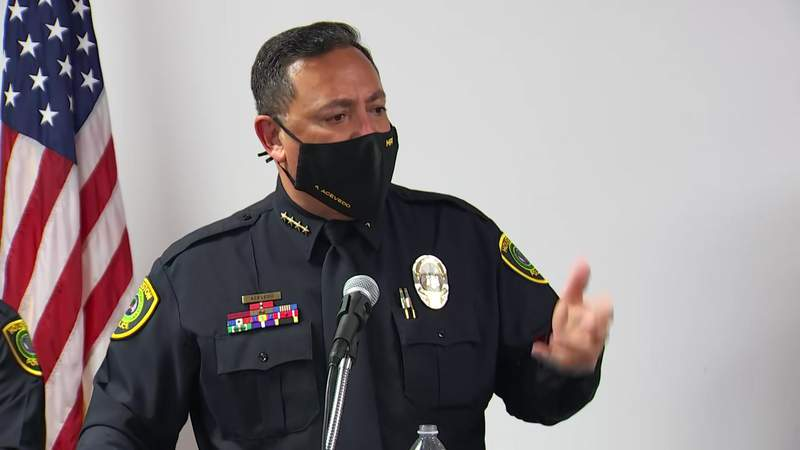 Acevedo answers questions about his departure to become top cop in Miami.