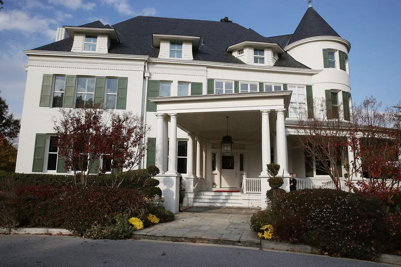 The Vice President's home at the Naval Observatory on November 16, 2016 in Washington, DC. (Photo by Mark Wilson/Getty Images)