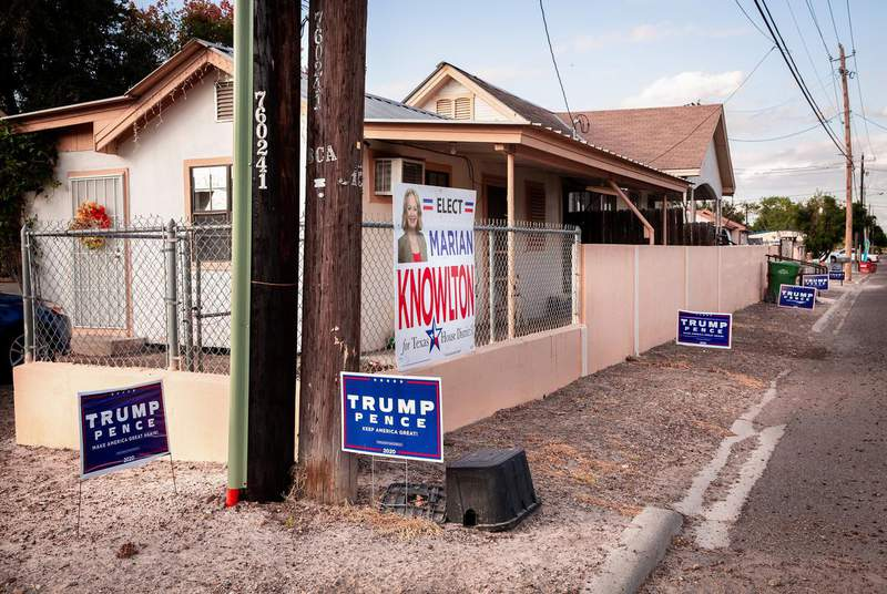 Voters in several places along the Texas-Mexico border supported President Donald Trump — in most cases that meant he still lost, but by less than in his first race in 2016 — but then many of them went back to voting more or less like they usually do. Credit: Jason Garza for The Texas Tribune